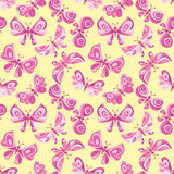 Bright butterfly flying illustration. Royalty Free Stock Photography