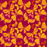 Bright butterfly flying illustration. vector seamless pattern on Royalty Free Stock Photos