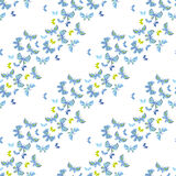 Bright butterfly flying illustration. vector seamless pattern on Stock Images
