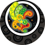 Bright button. Vector decorative bright retro button Royalty Free Stock Photography