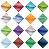 Bright buttons. Bright gradient button gems isolated on white Stock Images