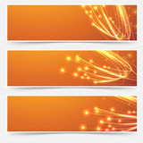 Bright cable bandwidth speed swoosh header. Fiber optic broadband internet electricity flow. Vector illustration Stock Images