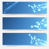 Bright cable sparkle flyer header footer set Stock Images