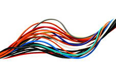 Bright cables isolated Royalty Free Stock Photo