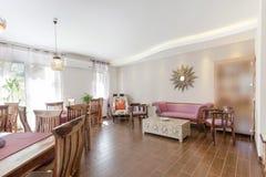 Bright cafe interior Royalty Free Stock Image