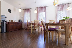 Bright cafe interior Stock Photo