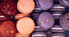 Colorful macaroon cakes royalty free stock image
