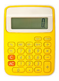 Bright calculator on white background Stock Photos
