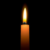 Bright candle stock illustration