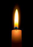 Bright candle flame Stock Image