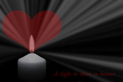 Bright candlelight with a heart. A bright candlelight with a heart Royalty Free Stock Photography