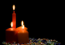 Bright candles. Stock Image