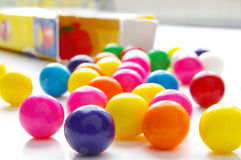 Bright candy gumballs Royalty Free Stock Photo