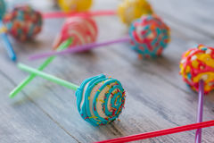 Bright candy on stick. Stock Image