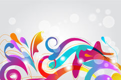 Bright card. Bright seamless  background with multicolor pattern Stock Images