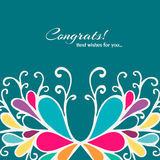 Bright card. Abstract colorful vector illustration Royalty Free Stock Image