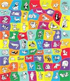 Bright card with cartoon animals. Vector Stock Images