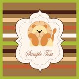 Bright card with a lion Royalty Free Stock Photography