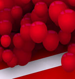 Bright Card with Red Balloons for Your Holiday Royalty Free Stock Photography