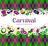 Bright carnival background and sign Welcome to Carnival. Bright vector carnival background and sign Welcome to Carnival Royalty Free Stock Photography