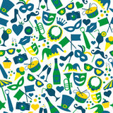 Bright carnival icons. Seamless pattern. Royalty Free Stock Photos