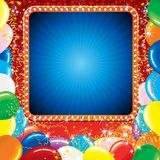 Bright Carnival or Party Sign Stock Images