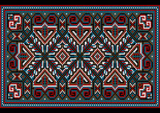 Bright carpet old style in blue and burgundy shades Stock Photography