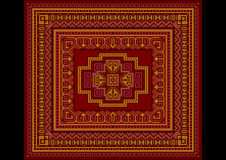 Bright carpet old style in red and burgundy shades Stock Photo