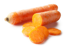 Bright carrot and slices Royalty Free Stock Image