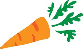 Bright carrot. Bright vector carrot, very simple and clear Royalty Free Stock Photos