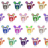 Bright cartoon chinchilla for your design. Seamless pattern Stock Photos