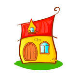 Bright cartoon house Royalty Free Stock Photography