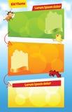 Bright Cartoon kid template Stock Image