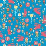 Bright cartoon pattern with animals Royalty Free Stock Photo