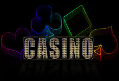Bright casino illustration Royalty Free Stock Photos
