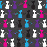 Bright  cat  seamless pattern, and seamless patter Stock Photos