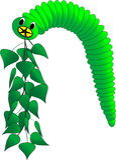 Bright caterpillar Royalty Free Stock Photos