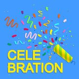 Bright celebration background with confetti. Vector illustration Royalty Free Stock Images