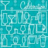 Bright Celebration card in  format. Stock Photo