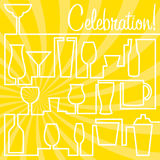 Bright Celebration card in  format. Stock Photos