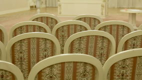 Bright chairs in the art Nouveau style stock video
