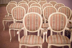 Bright chairs in the art Nouveau style Royalty Free Stock Photography