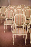 Bright chairs in the art Nouveau style Stock Photos