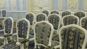 Bright chairs in the art Nouveau style stock video footage