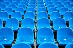 Bright chairs in the stadium arena. stock image