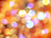 Bright cheerful orange and pink round blurred lights glowing abstract stock photography