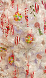 Bright And Cheery Ornaments On Christmas Tree Royalty Free Stock Photos