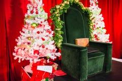 Bright cheery santa seat Stock Photo
