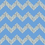 Bright chevron silver glitter on sky blue background in vector. Seamless print for fabric. Paper, wallpaper, packaging design.  vector illustration