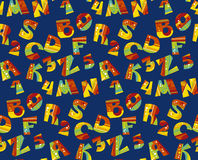 Bright childish style letter seamless pattern. Stock Images